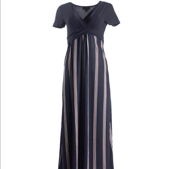 2/$40 Cap sleeve Dressy MAXI DRESS ( NWT)